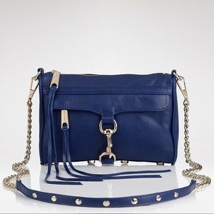 REBECCA MINKOFF | Blue Leather Mini Mac Crossbody